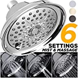cool shower heads for sale Mist Shower Head High Pressure Multi Function 2.5 GPM Powerful Spray, Best Shower Massage Wall Mount Fixed Shower for Modern Luxury Bathroom, High Flow High Power Jet Adjustable Chrome Shower Head