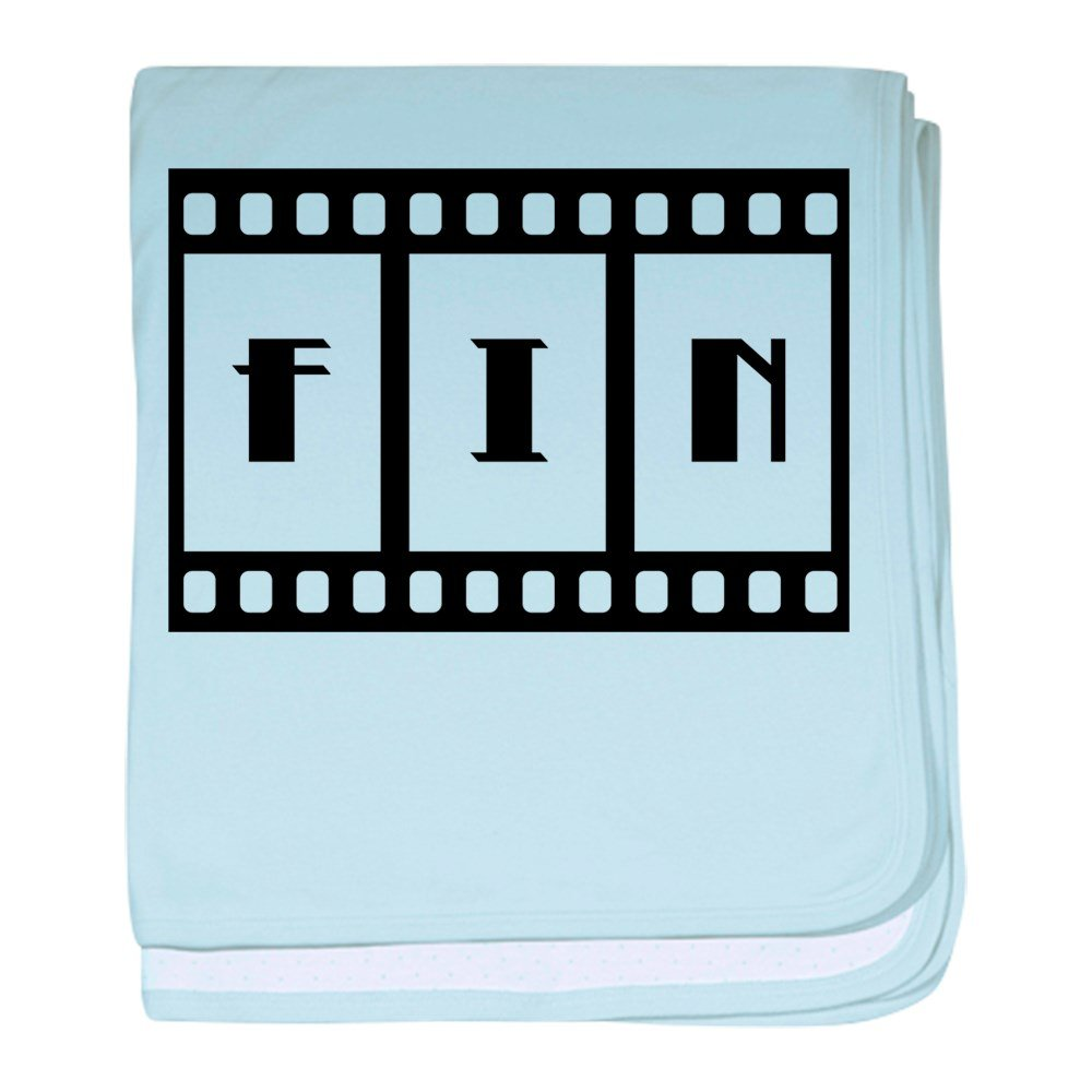 Truly Teague Baby Blanket Fin: Old Hollywood Movie Ending - Sky Blue