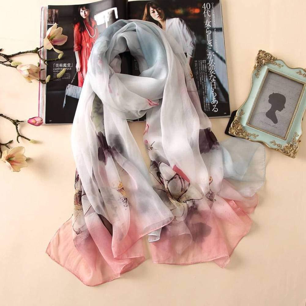 Four 175110cm Ladies Silk Scarves Printed Shawl Wild Beach Towel Hqysjin