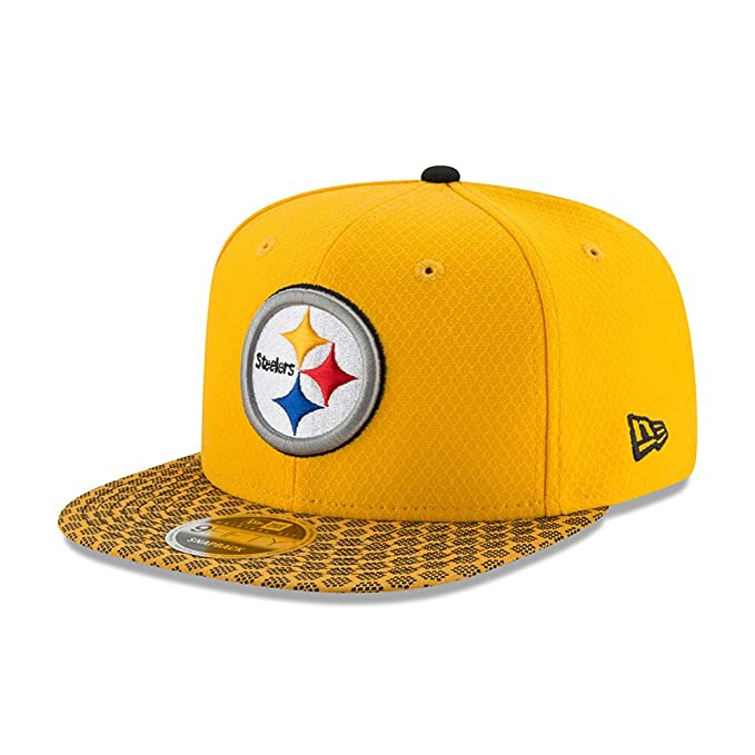 New Era NFL PITTSBURGH STEELERS Authentic 2017 Sideline 9FIFTY Snapback Game Cap