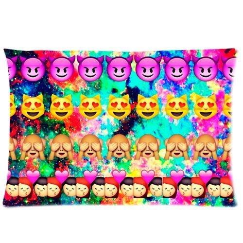 Fun Emoji Pillow Case Slip Cover