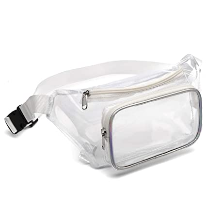 ca9a14e4e23c Fanny Pack, Veckle Clear Fanny Pack Waterproof Cute Waist Bag NFL Stadium  Approved Clear Purse Transparent Adjustable Belt Bag for Men, Women,  Travel, ...