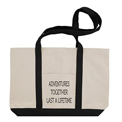 Adventures Together Last A Lifetime Cotton Canvas Boat Tote Bag Tote