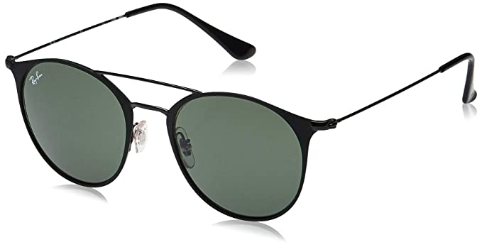 Amazon.com: Ray-Ban Anteojos de sol unisex, color negro mate ...