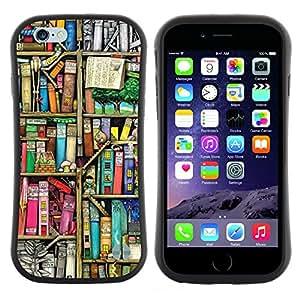 "Pulsar iFace Series Tpu silicona Carcasa Funda Case para Apple (4.7 inches!!!) iPhone 6 Plus / 6S Plus ( 5.5 ) , La lectura de la Biblioteca Escolar Teach"""