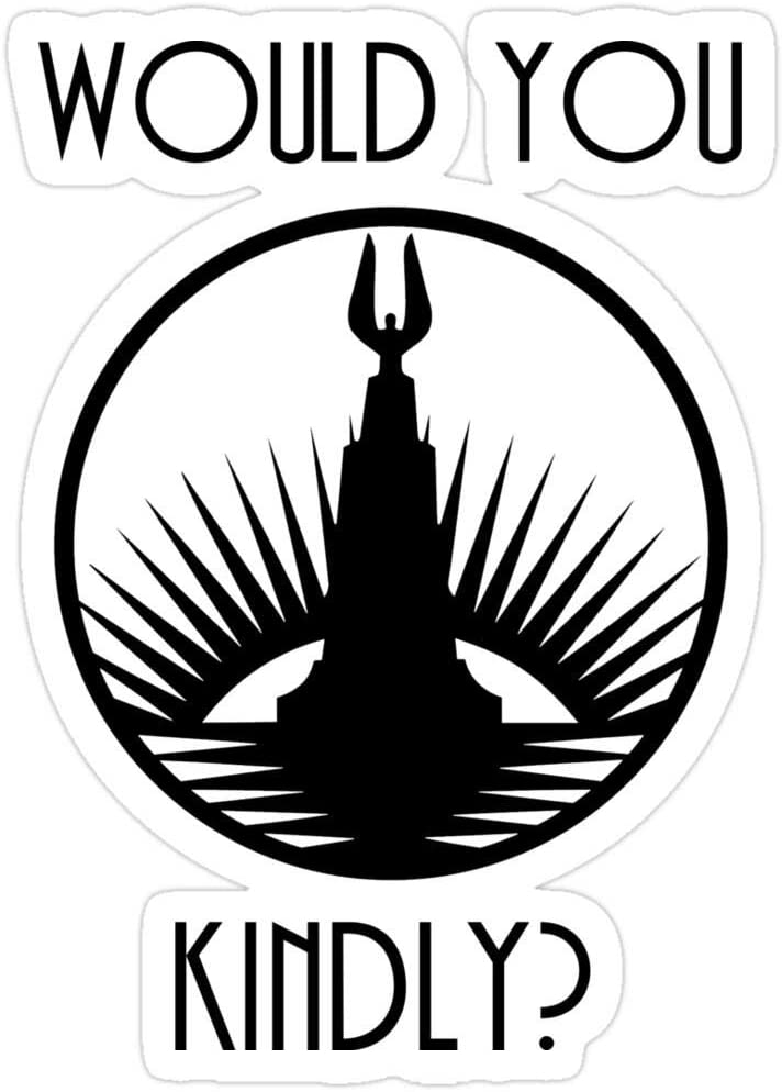Jess-Sha Store 3 PCs Stickers Rapture, Would You Kindly? Sticker for Laptop, Phone, Cars, Vinyl Funny Stickers Decal for Laptops, Guitar, Fridge