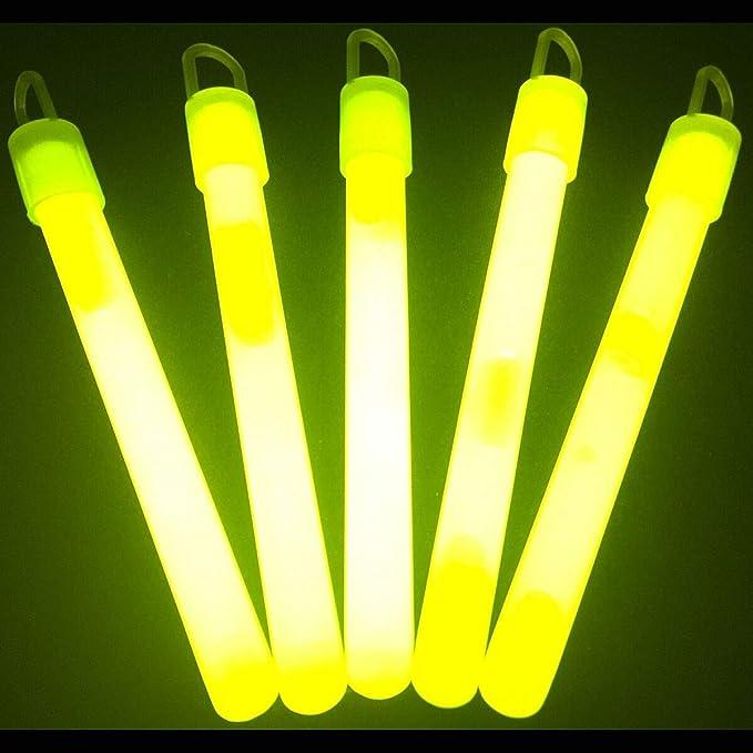 Mini Glow Sticks Glow in the Dark incl Box Yellow Neon Stick New Night anglers in