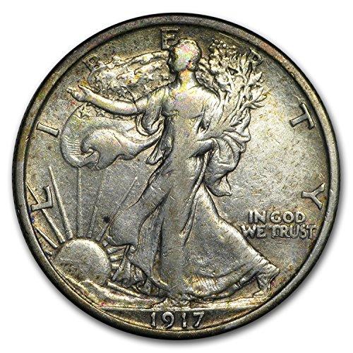 1917 Walking Liberty Half Dollar VF Half Dollar Very Fine (1917 Walking Liberty)