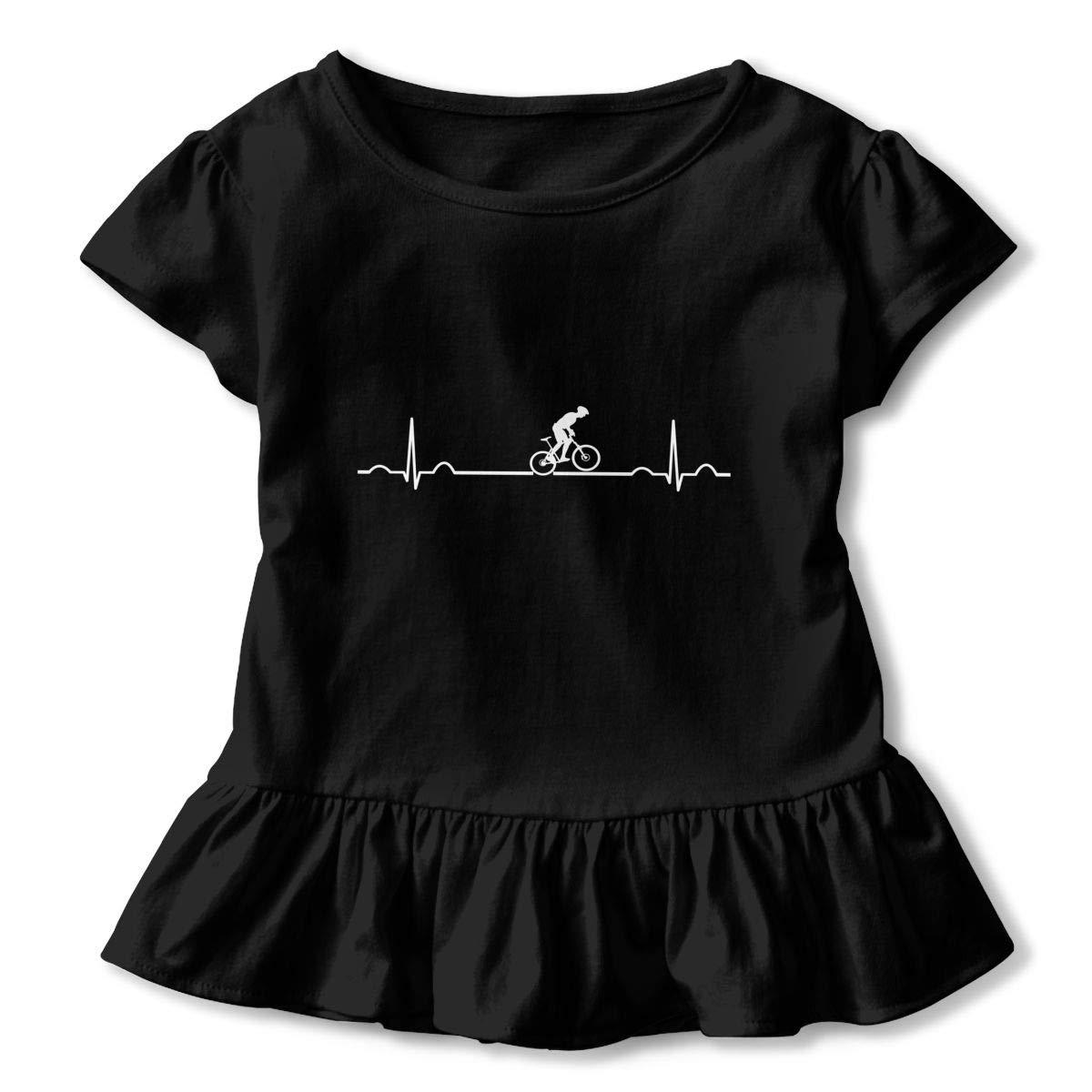 Mountain Bike Heartbeat Cute Short Sleeve Clothes for Boy Girl Dress Cotton T-Shirt Unique Bodysuit Romper,One-Piece Jumpsuit
