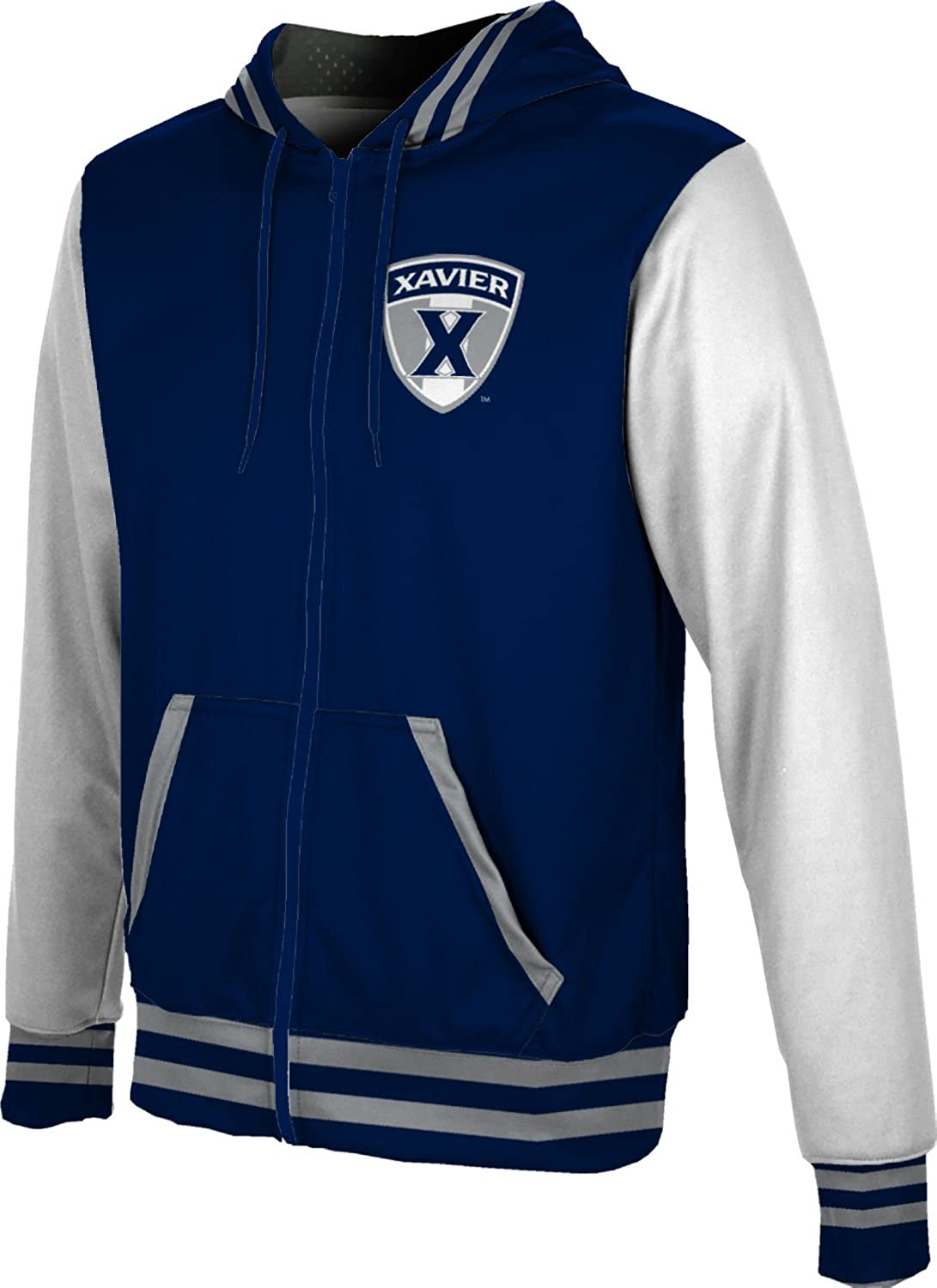 ProSphere Xavier University Boys Zipper Hoodie Geometric School Spirit Sweatshirt