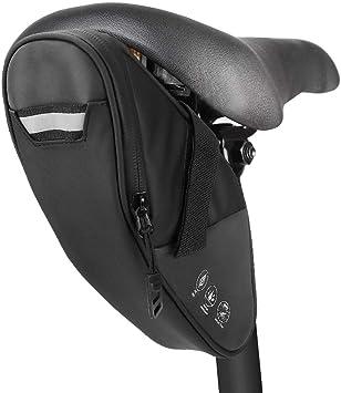 Achort Bolsa de Sillín de Bicicleta Alforjas Asiento Trasero Impermeable 1.5L para Bicicletas de montaña de Carrera teléfonos Negro: Amazon.es: Deportes y aire libre
