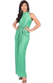 427bf368b8f5b Amazon.com  KOH KOH Plus Size Womens Long Sexy Off Shoulder Summer ...