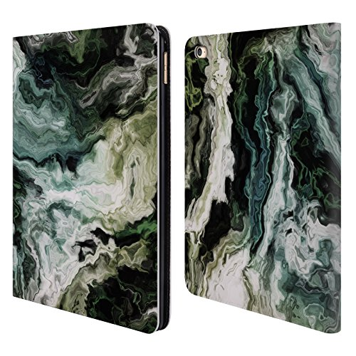 Official Haroulita Blue Green Marble 2 Leather Book Wallet C