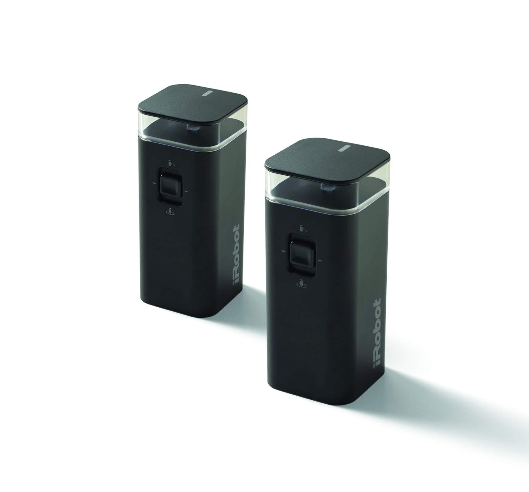 iRobot Dual Mode Virtual Wall Barrier, 2-Pack Accessories, Black