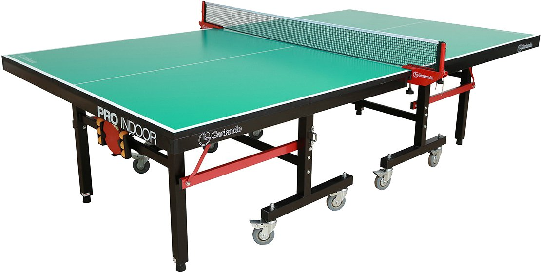Amazon.com : Garlando Pro Indoor Table Tennis Table, Green Top : Sports U0026  Outdoors