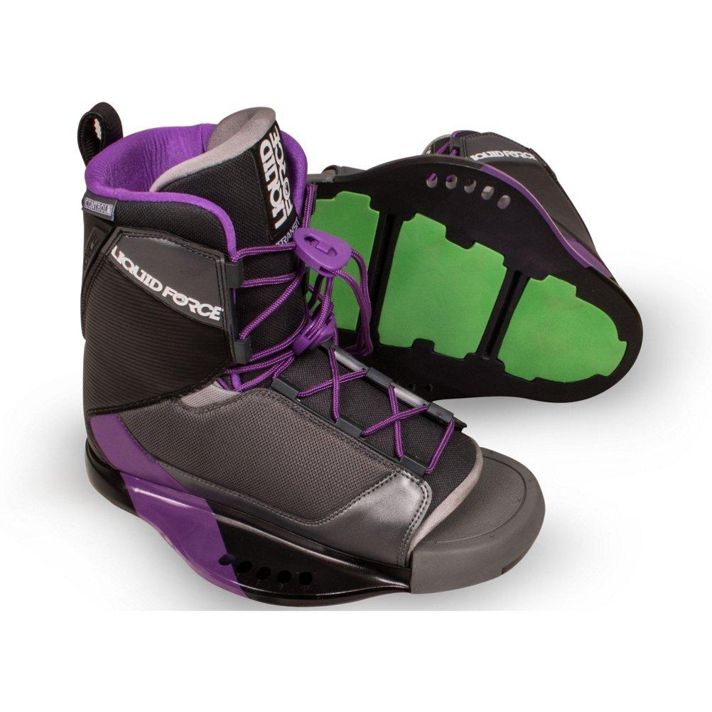 Liquid Force Transit Wakeboardバインディングレディース 黒-紫の