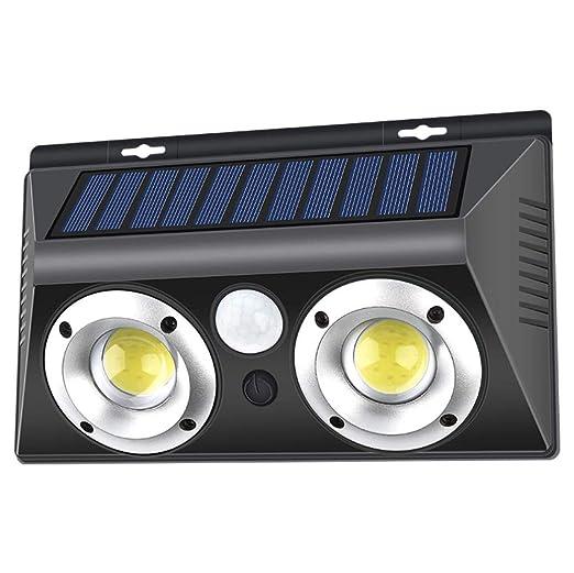 SIMGULAM Luz Solar de la Pared, Sensor de Movimiento Exterior Home ...