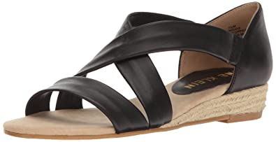Nicco  Anne Klein Damens's Nicco  Leder Wedge Sandale 29083a