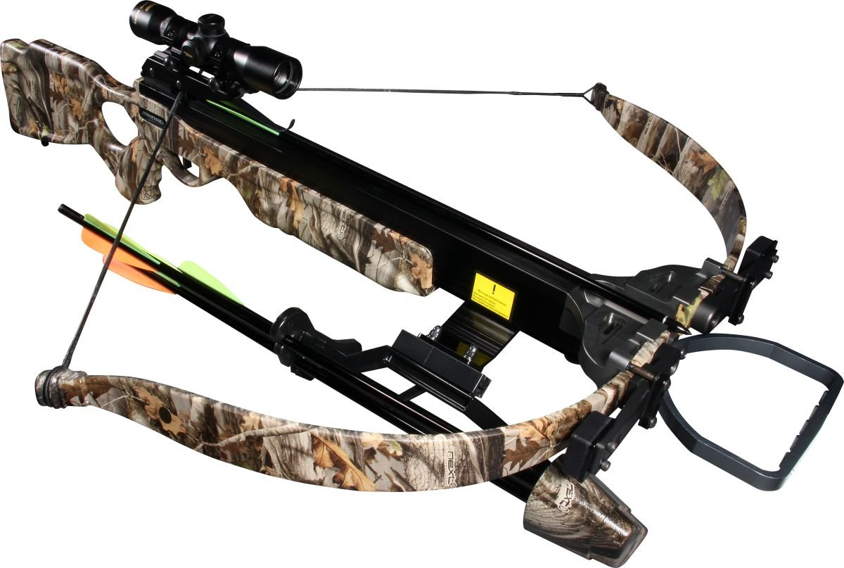 Jandao Chace-Star Recurve Hunting Crossbow with Scope Stringer Cocking Aid, 200-Pound 302 FPS