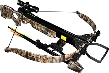 Jandao Chace-Star Recurve Hunting Crossbow with Scope/Stringer/Cocking Aid,  200-Pound/302 FPS