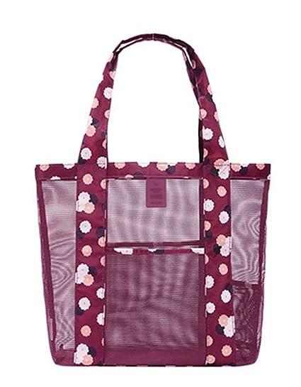 3f22351d6515 Ecokaki(TM) Fashion Mesh Bag Tote Shoulder Bag Great for the Beach ...