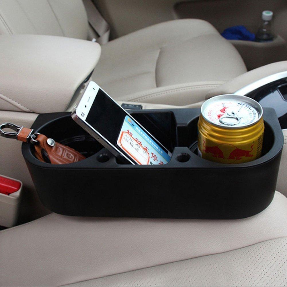 WSS Organizador de asiento de coche con m/últiples funciones color negro
