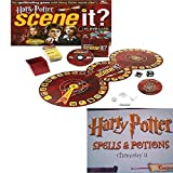 Harry Potter Scene It! DVD Game & Spells & Potions Gift Bundle 2 Piece Ages 8+