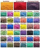 390g Cosmetic Grade Natural Mica Powder Pigment Soap Candle Colorant Dye 39 Colors (10 grams Each, 390 Grams Total)