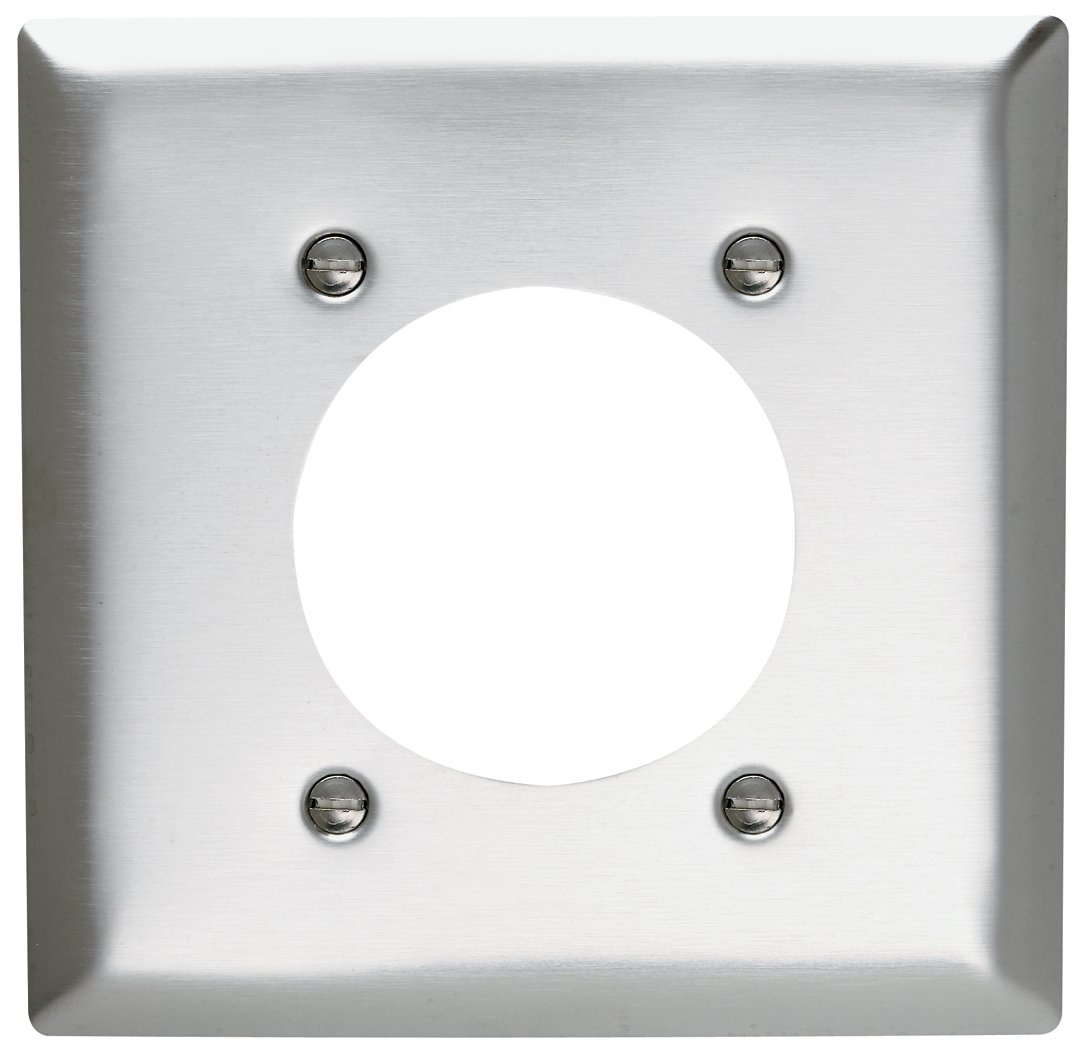 Pass Seymour Sl703cc12 Stainless Steel Wall Plate Two Gang Power House Wiring Switch Outlet 430 Easy Install Electrical Distribution Plates