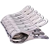 Ecolife Set of 6 Stainless Steel Beach Bath Towel Clips for Beach Chair or Pool Loungers on Your Cruise - Keep Your Towels From Blowing Away