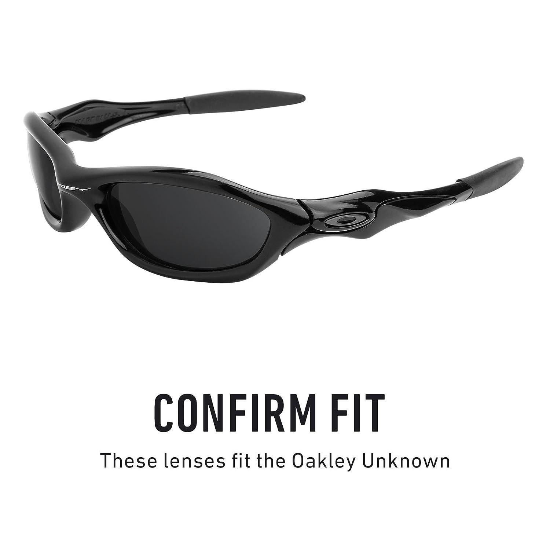 abb830f236 Amazon.com  Revant Polarized Replacement Lenses for Oakley Unknown Elite  Black Chrome MirrorShield  Sports   Outdoors