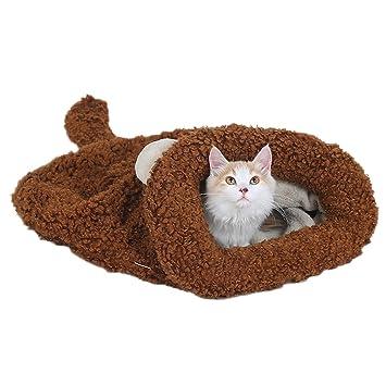 Hengsong mascota dormir bolsas caseta de perro calentador de cama Animal House, diseño de gatos: Amazon.es: Productos para mascotas