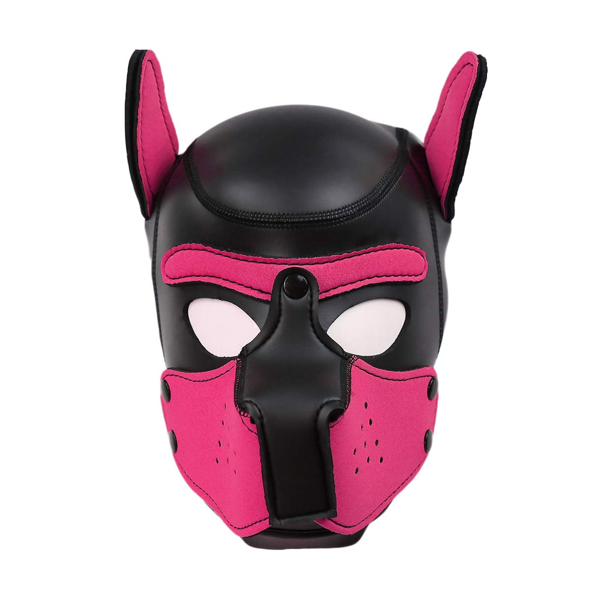 XuSha Neoprene Puppy Mask Dog Hood Pet Hat Removable Mouth Cosplay Party Props Animal Imitation Puppy Mask Medium Pink by XuSha