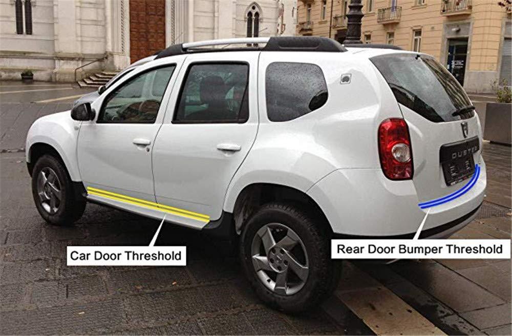 Auto Porta Davanzale Adesivo Nero MUXItrade 2M Fibra di Carbonio Pedale Soglia in Fibra di Carbonio Scuff Antigraffio Adesivo di Protezione per la Portiera del Veicolo