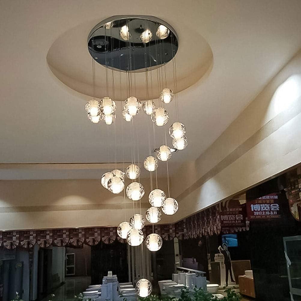 LUSON- Kristallleuchter Modern Nordic Personality Restaurant Wohnzimmer Color : 1 moderne Kristallleuchter Duplex Stairwell Kronleuchter G4 3W Lichtquelle