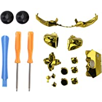 Colorful Screwdriver Set Elite Replacement LB RB Bumpers Triggers Buttons with Tools for Xbox One Elite Controller(Gold)