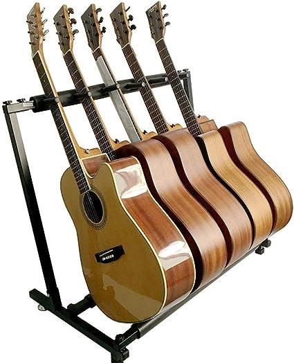 PetHot Multi-Stand 5 Soporte Suelo para 5 Guitarras,Soporte para ...
