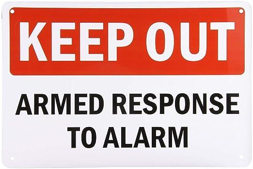 PotteLove Letrero de Aluminio, Leyenda Keep out, Respuesta ...