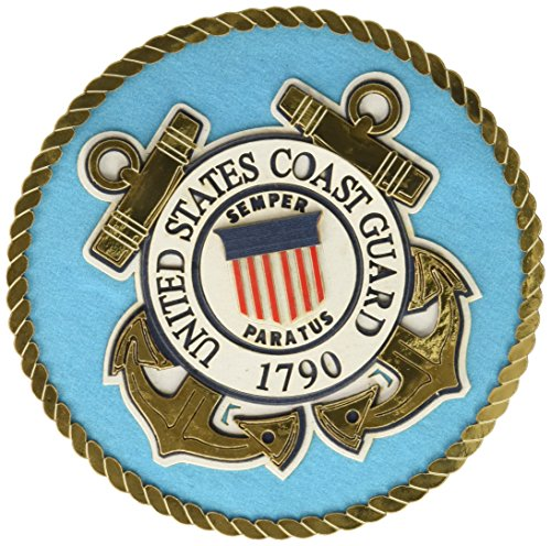 Uniformed U.S. Coast Guard Emblem Die Cut Guard Emblem