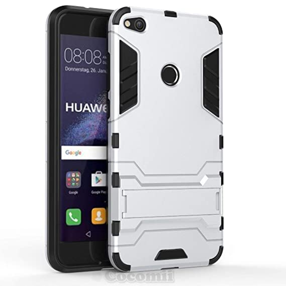 Cocomii Iron Man Armor Huawei P8 lite 2017/P9 lite 2017/Honor 8 Lite/Nova Lite/GR3 2017 Case NEW [Heavy Duty] Tactical Grip Kickstand Shockproof ...