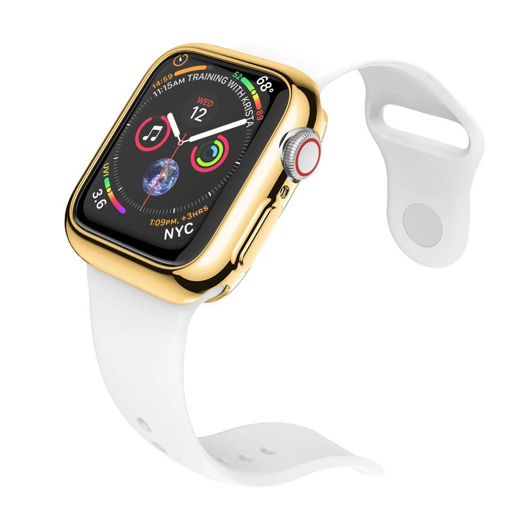 Yaida❤️❤️Ultra-Slim Plating TPU Protective Bumper Case Cover for Apple Watch Series 4 44MM (Gold) by Yaida_❤️Watch (Image #2)