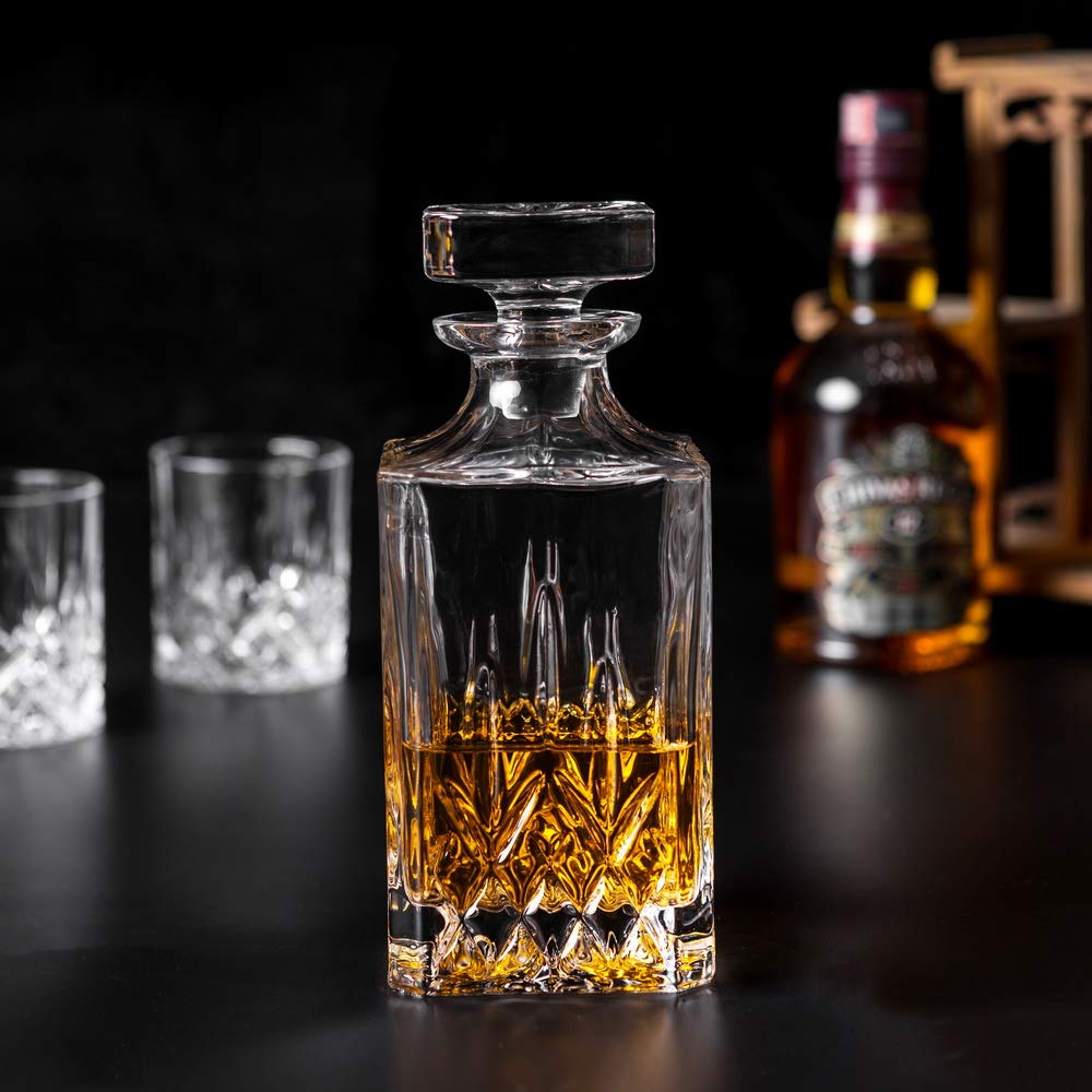 KANARS Whiskey Decanter And Glass Set In Unique Luxury Gift Box - Original Crystal Liquor Decanter Set For Bourbon, Scotch or Whisky, 5-Piece by KANARS (Image #8)
