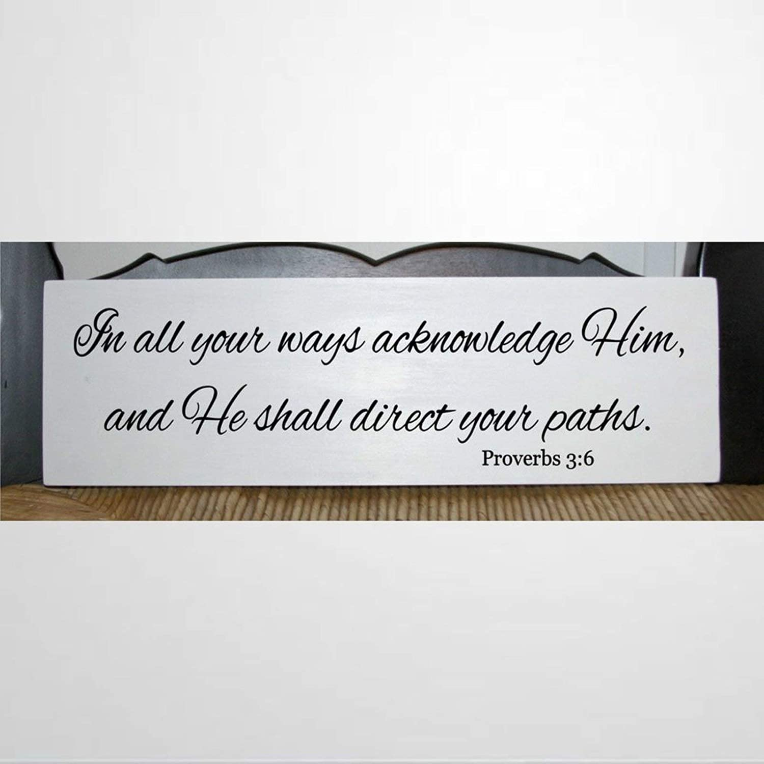 43LenaJon in All Your Ways Acknowledge Him Wood Wall Decor Sign,and he Shall Direct Paths proverbsCustom Wood Sign,Wooden Plaque Art for Easter, Father's Day,Mother's Day,Home,Gardens.