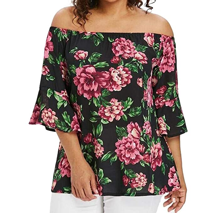Blusas Elegantes Blusa De Mujer Ocio 1 2 Tops T-Shirt Blusa Retro De Fiesta
