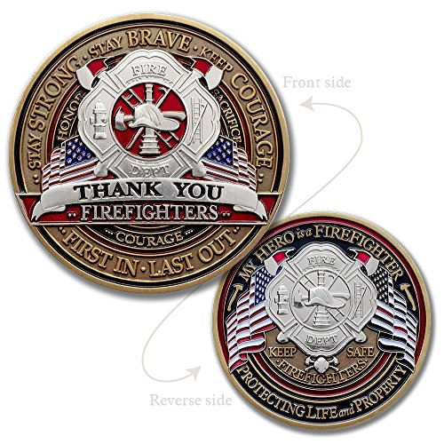 Fire Fighter Appreciation Challenge Coin · FireFighter Thank You Challenge (Silver Finish Challenge Coin)