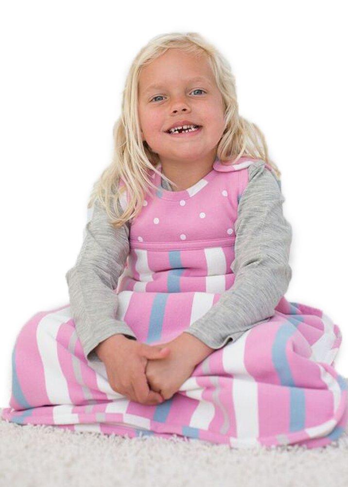 Merino Kids Winter Sherpa-Weight Baby Sleep Bag For Babies 0-2 Years, Pink/Blue