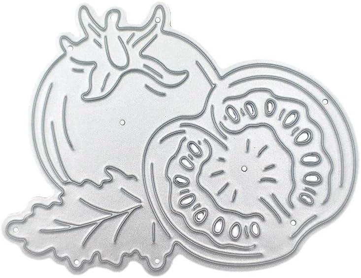 /álbumes de recortes para manualidades Fafalloagrron Plantilla de troquelado de metal con forma de tomate