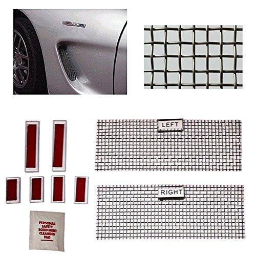 C5 Corvette Cove Side Screen Insert Kit Stainless Steel Woven Mesh Design Fits: All 97 through 04 - Complete C5 Kit Body