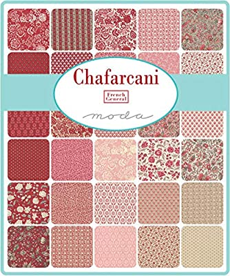 French General Chafarcani Mini Charm Pack; Cuadrados de tela precortados de 42 a 2,5 cm: Amazon.es: Amazon.es