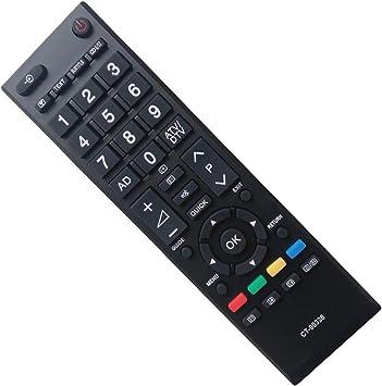EAESE Toshiba CT-90326 Reemplazo Mando a Distancia para Toshiba LCD LED Smart TV 22AV605PB 22AV605PG 22AV605PR 22AV606PG 22AV606PR 22AV615DG 22AV616DB 26AV603PR 26AV605PB 26AV605PG 26AV605PR 26AV607PG: Amazon.es: Electrónica